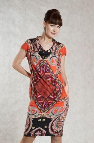 6f37fa8c6cdf Стильное платье, прямого силуэта, выполнено из тонкого трикотажа с ...